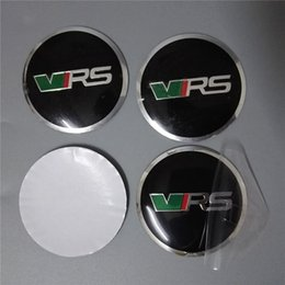 Wholesale 56 mm Car Decals for Skoda All Cars Set Self Adhesive Aluminum Emblem Badge Sticker