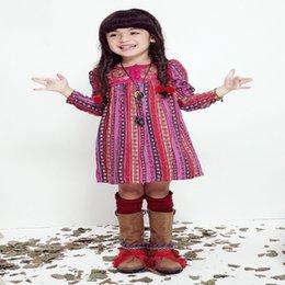 Wholesale Girls Dresses Autumn Winter Brand Princess Dress Girls Clothes Flower Kids Dresses for Girls Long Sleeve Children Dress