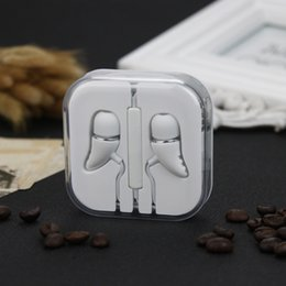 New Crystal box Earphone Noise Isolating Wired 3.5mm Stereo Headset Mic Headphone Universal For mobile Phone For Mp3 Free Shipping