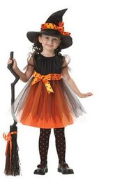 Wholesale NEWChildren sHalloween Costumes The best gift for children COSPLAY The witch anime dance performance clothing