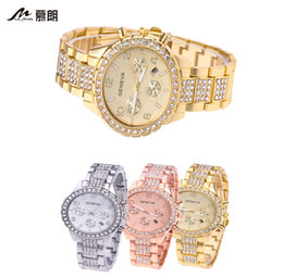 Warrior Geneva GENEVA Fashion Women's Diamond Sanjin Calendar Watches Luxury Men Business Quartz Watch Rose Gold.