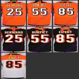 Wholesale NIK Elite Football Stitched Bengals Bernard Vontaze Burfi Tyler Eifert Black Orange White Jerseys Mix Order