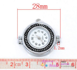 2 Silver Tone Round Quartz Watch Faces 28x25mm (B09961)8seasons watch dv watch crazy beautiful free