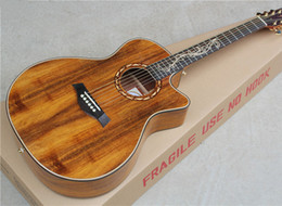 Wholesale 41 Inch Acoustic Guitar with Original acacia mangium Body and Backside Gold Knobs Can be Customized