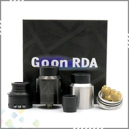 Wholesale Newest GOON RDA Atomizers With Wide Bore Drip Tip And CHUFF mm PEEK Insulators Colors Fit Mods DHL Free