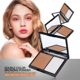 Wholesale Hot Face Powder Palette Magical Halo Double Color Stereo Bronzing Powder style Concealer Powder Bronzing Silhouette Powder Lasting Beauty
