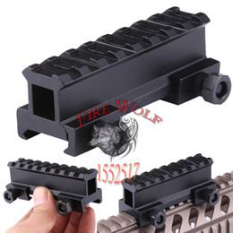Wholesale Hunting Scope Mount Adapter quot Riser Base AR Dovetail Weaver Mount quot Picatinny Rail Hunting Accessories