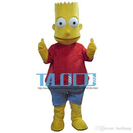 Wholesale New Bart Simpson Mascot Costume Fancy Dress Outfit Adult