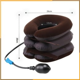 Wholesale High Quality Air Cervical Neck Traction Soft Brace Device Unit for Headache Head Back Shoulder Neck Pain Health Care by DHl free