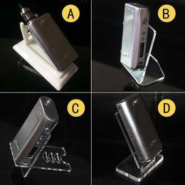 Acrylic Ecig Box Mod Display Cases Stands Shelf Holder Vape E Cigarettes Kits E Liquids Bottles Display Racks Accessories For Vaporizer Pen