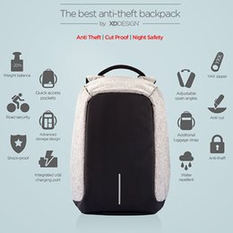 Wholesale 2016 NEW The Best Anti Theft city backpack bags by XD Design for school College travel with USB high quality luxury creative gift mens women