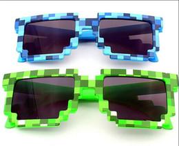 Fashion Creeper Sunglasses Glasses Knickknack JJ Computer Nerd Geek Gamer Mosaic Glasses Women Men Unisex Full Frame Sunglasses