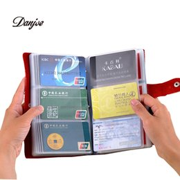 Wholesale New Card places leather card holder bank credit pack card protector business card bag big capacity best gifts solid color