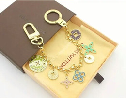 Wholesale Women keychain famous brand key chain bag charm dangle key holder ring chains handbag charms keychains chaveiro llaveros porte clef