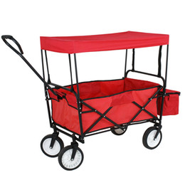 Wholesale Garden Beach Toy Sports Collapsible Folding Wagon Cart Canopy Outdoor Utility