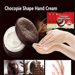 Wholesale Newest Brand Hand Cream Chocolate Pie Moisturizing Replenishment Chocopie Shape Hand Cream Strawberry Cotton candy Chocolate