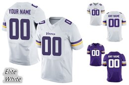 Wholesale 2016 Vikings Men Elite Custom Minnesota Home Away White Purple Football Jerseys Any Name Number PETERSON BARR High Quality Stitched Wear