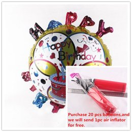 Wholesale Foil Balloons Party Decoration Inch Bithday Cake Round Aluminum Film Balloons Halloween Celebration Party Supplies Balloons