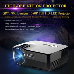 Wholesale GP70 HD LED Projector P Full HD Aspect Ratio Lumens Contrast Ratio Projector Projection HDMI VGA AV USB SD Slot DHL V2013