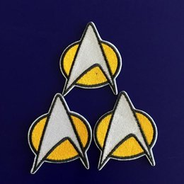GP-59 vente chaude! Vente en gros 5 * 6cm STAR TREK patches Star Fleet Iron / Coudre Patch T-shirt TRANSFERT MOTIF APPLIQUE Punk Rock Badge à partir de transferts tshirt fournisseurs