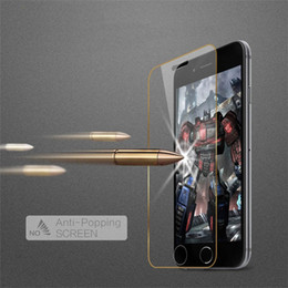 Wholesale New mm Tempered Glass Full Screen Protector For Apple iPhone S Plus H Hardness Explosion Proof Screen Protective Film