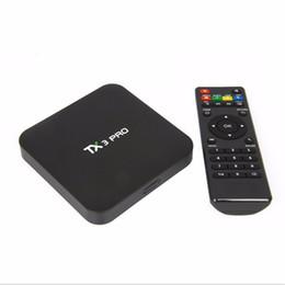 Latest TX3 PRO Android 6.0 TV BOX Amlogic S905X Quad core 1GB 8GB HDMI H.265 WIFI 3D Smart Media Player
