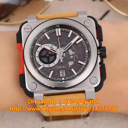 Wholesale New Luxury High Quality AVIATION BR X1 Skeleton Quartz Chronograph Men s Watch BR X1 CE TI RED Gift Box