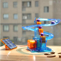 Wholesale Ball moving Creative solar toys diy toys children assembled scientific experiments favorite track ball toys for children kids