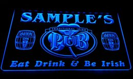 LS590-b Name Personalized Bar Beer Mug Glass Pub Neon Light Sign