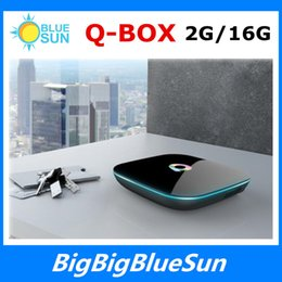 Wholesale Latest G G TV Boxes Q box Android S905 Quad Core Support Youtube Facebook Online Movies Channels Smart Internet TV Box