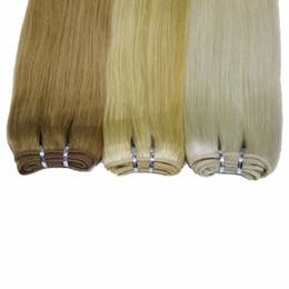 Descuento marrón recta armadura brasileña del pelo Tela # 1B del pelo humano recto brasileño # 4 # 8 marrón # 27 h # 613 blonde # 33 Auburn oscuro # 99j Borgoña 100g / lot