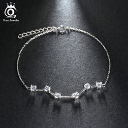 6 Cubic Zirconia Square Cut Noble Bracelet for Woman Girl Platinum Plated Female Fashion Jewelry OB36