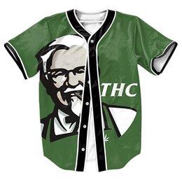 Wholesale sport top MEN S Jersey overshirt d print shirts Streetwear Hip Hop with Single Breasted baseball shirt Casul