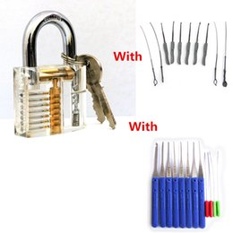 lock picks tools padlock practice lock with Two Sets Broken Key Extractor Set Locksmith Tool Key Removing Removal Hooks Lock Kit BK187