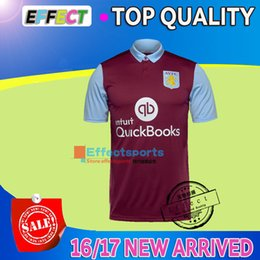 Wholesale New Arrived Top Quality Aston Villa home red Soccer Jerseys Maillot de foot Short sleeve Middlesbrough Home Away football shirts