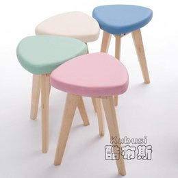 Wholesale Leisure hotel dining chair stool wooden bench seat has a round face tall bar