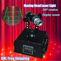 Wholesale 360 Degree Angle Rotation with DMX512 Laser Light mw Red Mini Moving head Laser for DJ Bar Stage Shaking Projector Laser Curtain