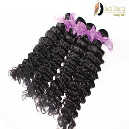 8A Cuticle 100% Mongolian Hair Extension 10-28inch Deep Wave Natural Color Unprocessed Mongolian Hair bunldes Human Hair Weave