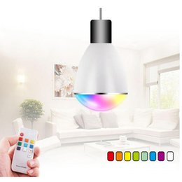 Wholesale 2016 New Product BL07R LED Lights Smart Bulb with remote control BL R Magical Smart Lamp Colors RGB Smart Home Illumination
