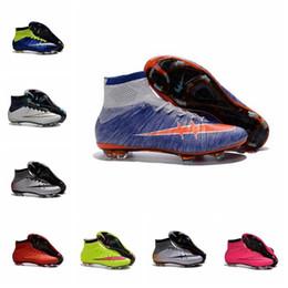 Wholesale new soccer shoes high top soccer botas de futbol superflys ag boys soccer cleats girls men football shoes
