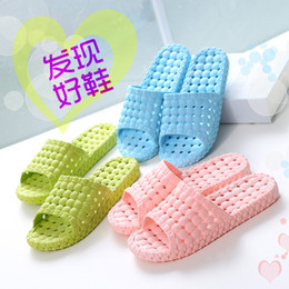 Wholesale Slippers summer woens indoor shoe sandals cheap slippers leaking bathroom sexy brand couple dragging a bath room wholesales shoes slippers