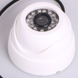 Wholesale Vandalproof TVL IR LEDs mm Lens Wide Angle View Aluminum Dome Security home office Camera White Black
