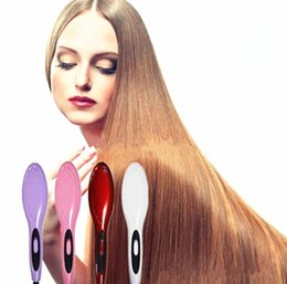 Wholesale New Fashion Hair Straightening Comb Seconds Auto Hair Brush Straightener Hair Style Tools With Retail Box EU US Plug available