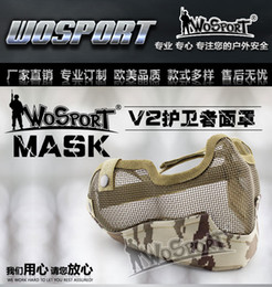Wholesale Halloween Single Belt Metal Steel Net Mesh Protective Tactical Mask cosplay airsoft paintball feild game Tactical protective mask half fac