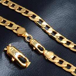 Wholesale 10MM inch Long Mens gourmette Chain Necklace Flat Cut or k Bijoux Rempli Party Daily Wear