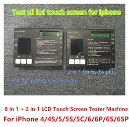 Wholesale 10 in Tester Box For iPhone S S G C G S PLUS S S PLUS ipod touch High Copy Original LCD Screen Touch Testing Machine Set