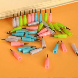 Descuento niños mini lápiz 400pcs / lot mini recargas del lápiz fáciles utilizar el recargo del lápiz de los efectos de escritorio de la oficina de la escuela para los lápices del lápiz de los niños del niño liberan el envío Papelaria