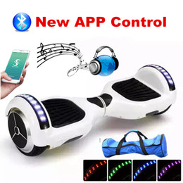 Hoverboard Bluetooth Smart Balance Scooter Smart Balance Wheel Electric Scooter 6.5 inch Bluetooth Scooter With LED Light Self Balancing