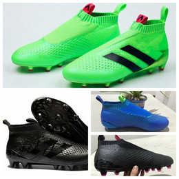 2016 Cheap Mens ACE 16 PureCOntROl Fg FooTbaLls BOOTs Green Black Blue White ACE 16 Pure Control Soccer Cleats SOcCEr Shoes free shipping