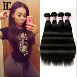 Grade 7A Peruvian Virgin Hair Straight 100% Virgin Peruvian Straight hair 4 bundles HC Hair Products Peruvian Human Hair Weave
